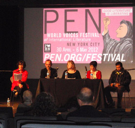 Susanna introducing the Children's Rights panel at the 2012 PEN World Voices Festival