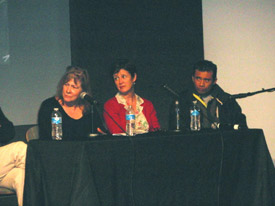 Human rights activist Arn Chorn-Pond and YA novelists Debby Dahl Edwardson and Patricia McCormick