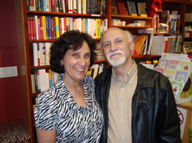 Susanna with her husband and fellow children's book author, Gary Golio