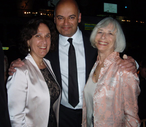 Susanna at the PEN gala with Sarwat Chadda and Liz Levy