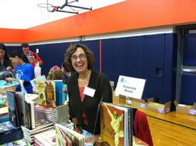 Signing at the Chappaqua Children's Book Festival.
