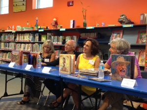 Susanna spoke on a nonfiction picture book panel with (from right) Doreen Rappaport, Gary Golio and Catherine Ciocchi.