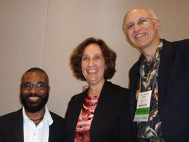 Susanna with fellow Picture Book Biography panelists Don Tate and Gary Golio (not pictured: Chris Barton)