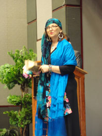 Texas Poet Laureate Carmen Tafolla opened the conference.