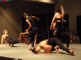 Texas State San Marcos' Merge Dance Company performed an original dance inspired by a Tomas Rivera poem.