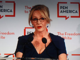 J.K. Rowling gave a smart, funny speech defending freedom of expression.