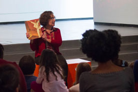Speaking at the Sugar Hill Museum of Art & Storytelling